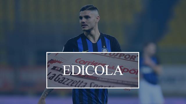 Edicola: Ancelotti chiama Icardi che però attende la Juve. Napoli-Lozano: sì. Milan su  Fernandes?
