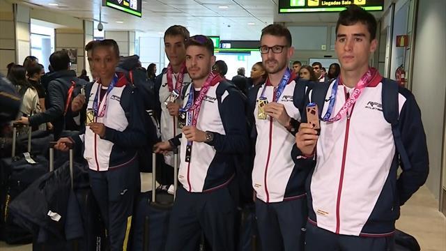 Regresan a Madrid los atletas españoles tras su gran actuación en Glasgow