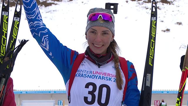 Moshkova clinches the 7.5km Biathlon sprint title as Russia dominate