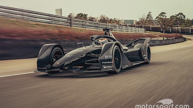 Porsche rueda por primera vez con su Fórmula E