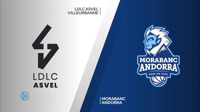 Quarti gara 1, highlights: LDLC ASVEL Villeurbanne-MoraBanc Andorra 79-75