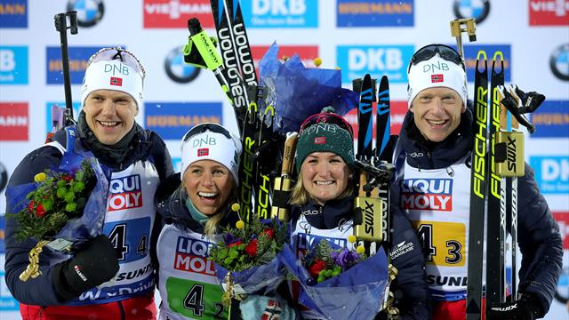 Norway win record fourth mixed relay gold