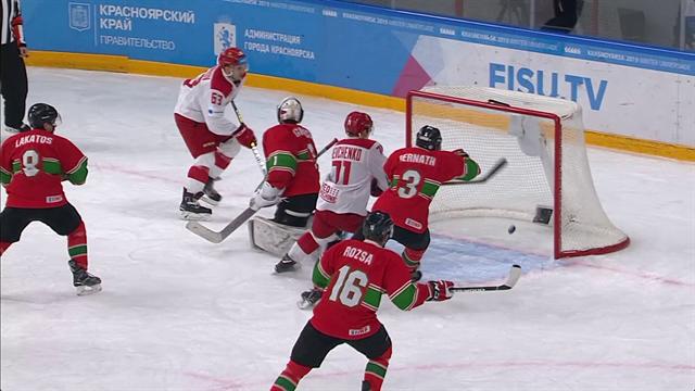VÍDEO - Universiada 2019: - Hungría-Rusia, el 'VAR' también actúa en el hockey hielo
