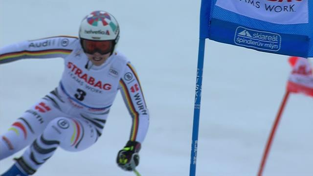 Rebensburg second in Giant Slalom after first run