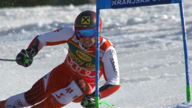 Kranjska Gora giant slalom: Marcel Hirscher's second run