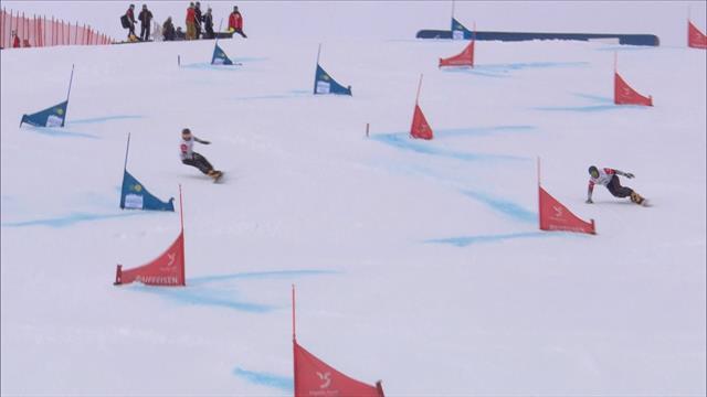 Sobolev beats Loginov in snowboard giant slalom final