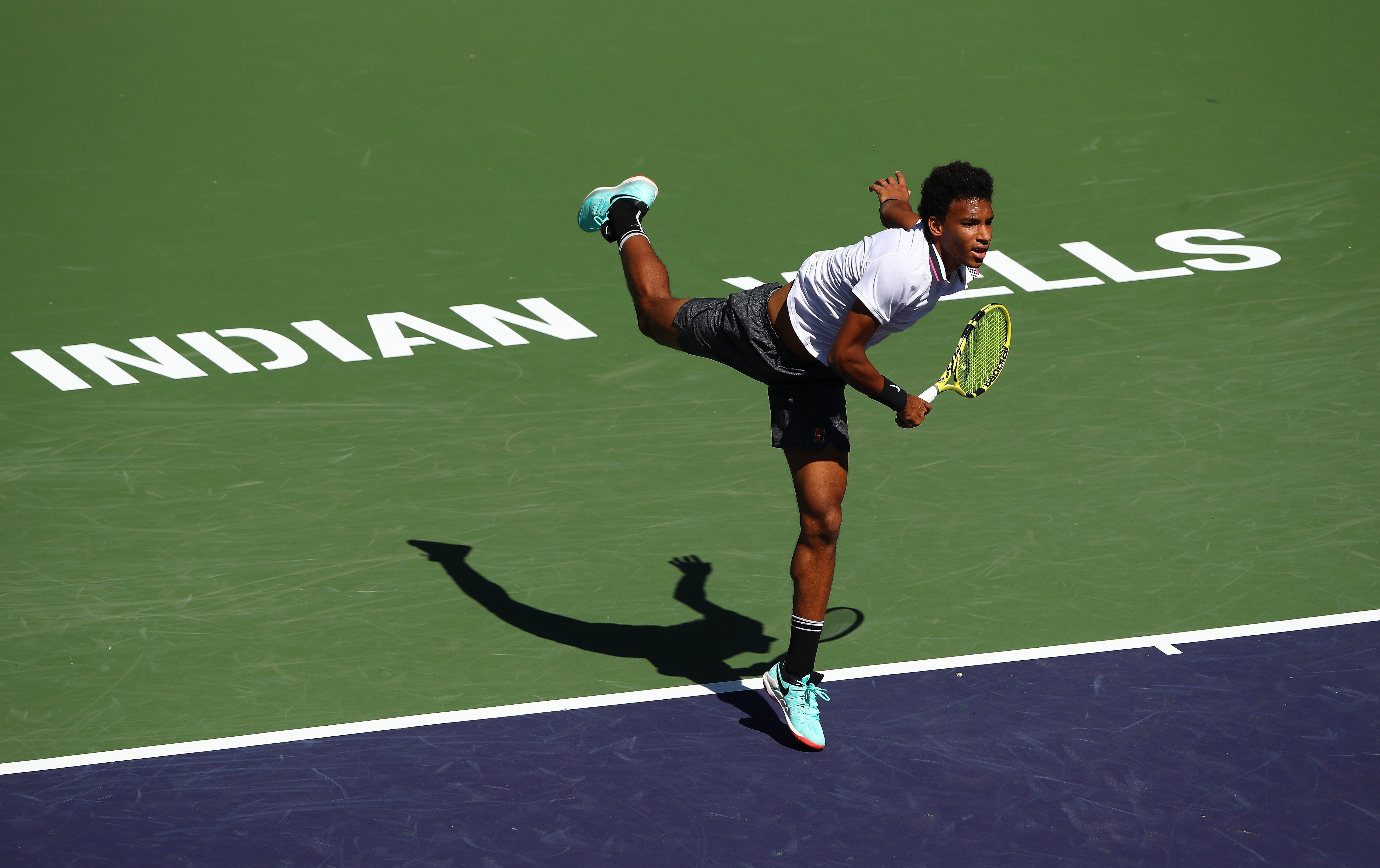 Felix Auger-Aliassime at Indian Wells