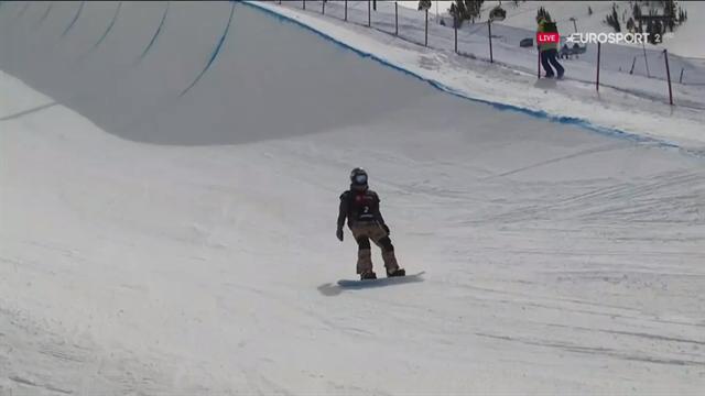 Snowboard de Mammoth: Queralt Castellet se queda sin opciones de victoria en Half Pipe