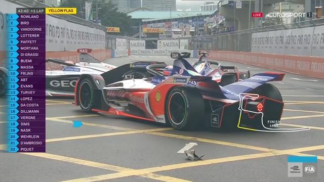 E-Prix Formula E Hong Kong: Accidente del líder D'Ambrosio que choca con su compañero y quedan fuera