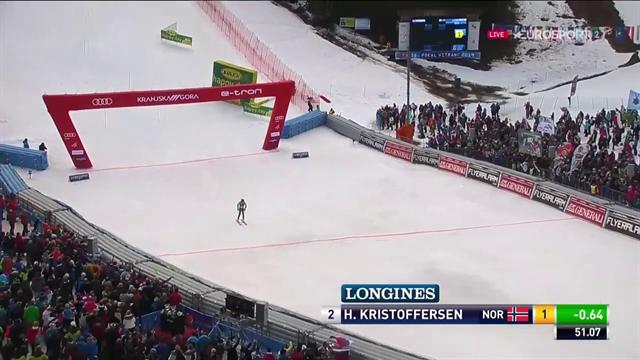 Kristoffersen in palla: domina la prima manche dello slalom