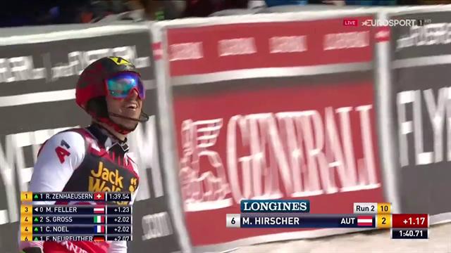 Con questo slalom Hirscher vince la sua ottava Coppa del Mondo