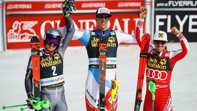 Hirscher wins eighth successive World Cup title despite Zenhaeusern victory