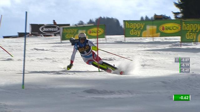 Zenhäusern wins Slalom by more than a second in Kranjska Gora