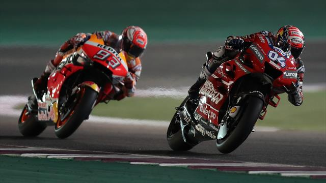 Au bout d'un combat féroce, Dovizioso l'emporte d'un souffle devant Marquez