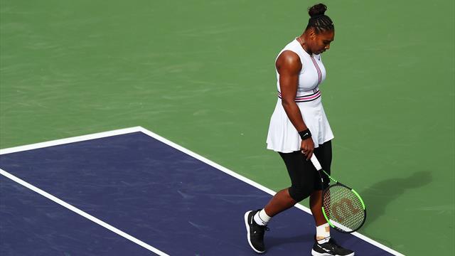 Serena Williams muss gegen Muguruza aufgeben