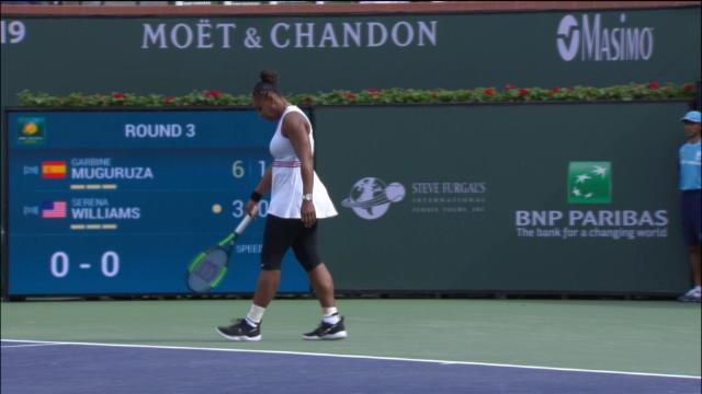 Serena Williams contrainte à l'abandon à Indian Wells — WTA