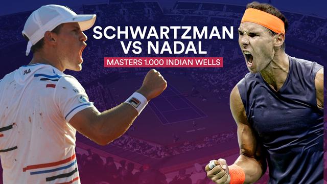 Indian Wells 2019, Schwartzman-Nadal: Un 'Peque' enorme ante un gigante colosal