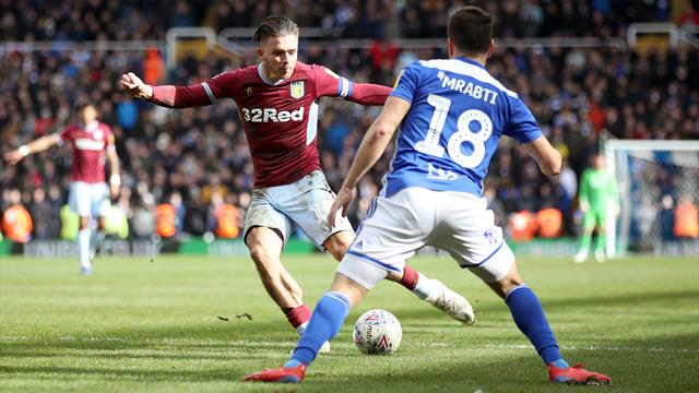 Birmingham vs. Villa marred by disgraceful scenes as fan punches Jack Grealish