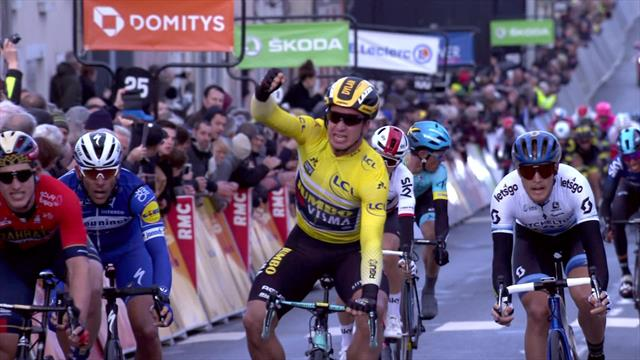 Groenewegen makes it two from two with victory on dramatic day in Paris-Nice
