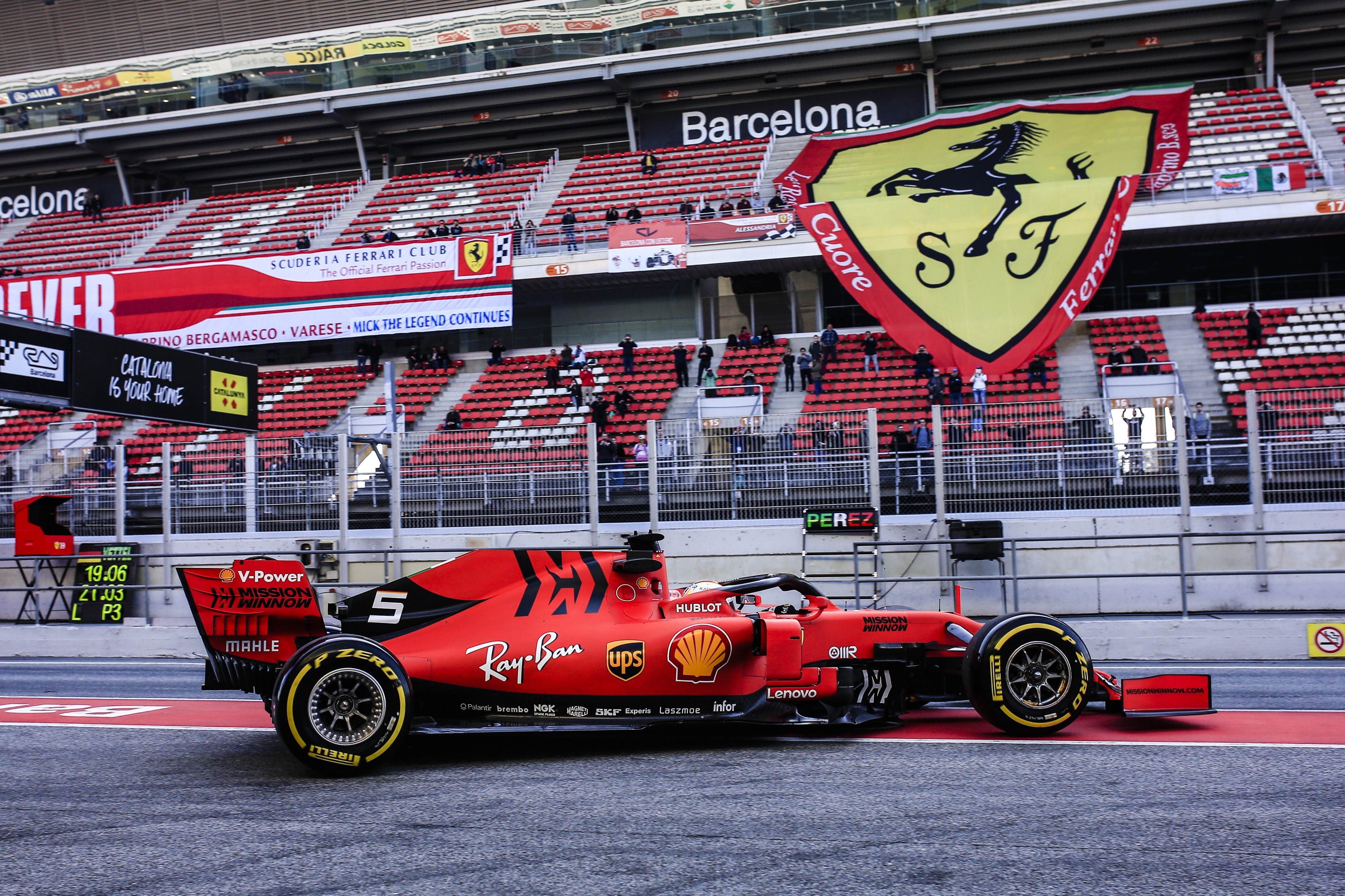 Sebastian Vettel (Ferrari) - Tests 2 Montmelo 2019