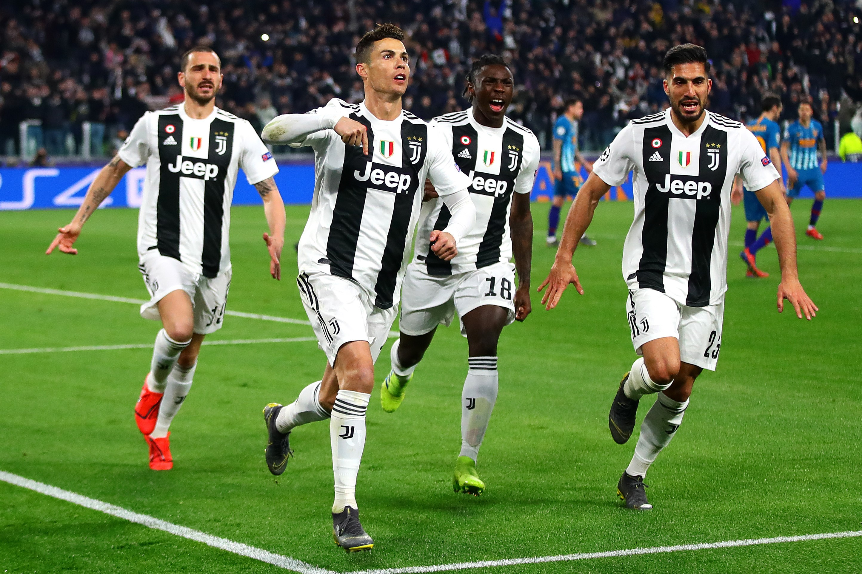 Cristiano Ronaldo célèbre face à l'Atlético Madrid