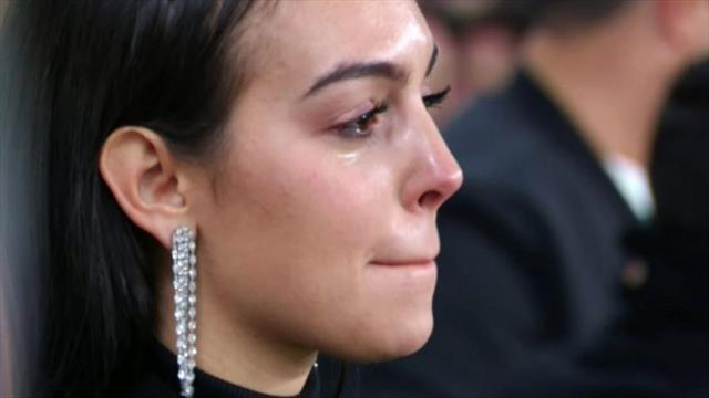 Las lágrimas de Georgina tras el hat-trick de Cristiano que clasificó a la Juventus