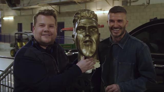 La broma pesada a David Beckham con un estropicio de estatua que debía parecerse al jugador