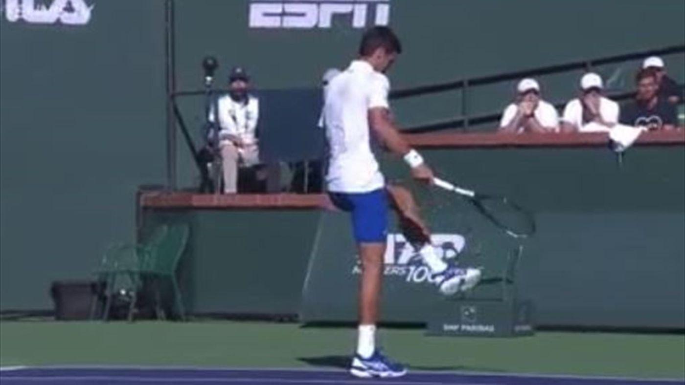 7f0a5092bf6c8 El cabreo de Djokovic que pagó su raqueta