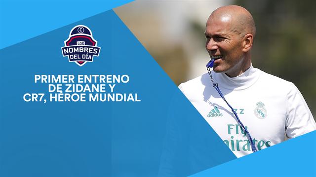 Primer entrenamiento de Zidane, Ronaldo, Griezmann y Messi, los nombres del día