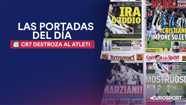 Las portadas tras el Juve-Atleti con CR7 de protagonista: 'Marciano', 'Monstruoso' e 'Ira de Dios'