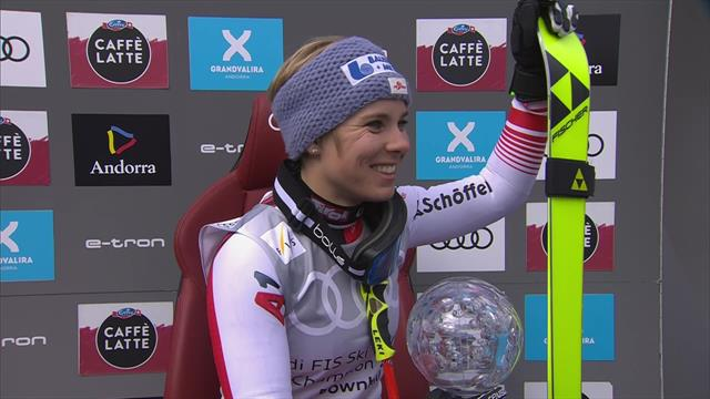 'We'll have a big party!' - Schmidhoffer reacts to clinching the Downhill Crystal Globe