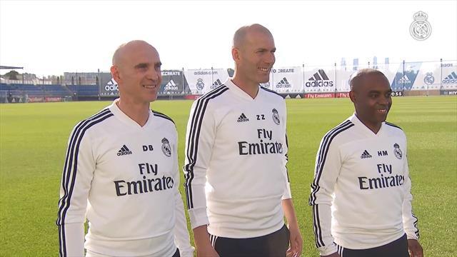Heureux comme un enfant, Zidane a retrouvé le centre d'entraînement du Real