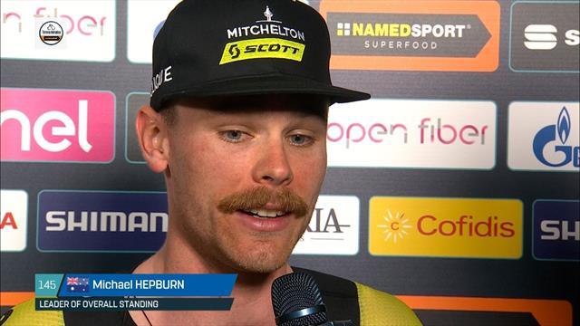 Mitchelton-Scott's Hepburn surprised to be wearing leader's jersey after TTT victory