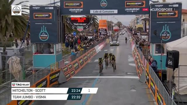 Tirreno-Adriatico   Mitchelton-Scott wint ploegentijdrit