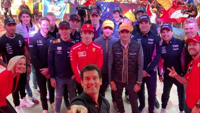 El desastroso selfie de los pilotos de Fórmula 1 antes del inicio del Mundial