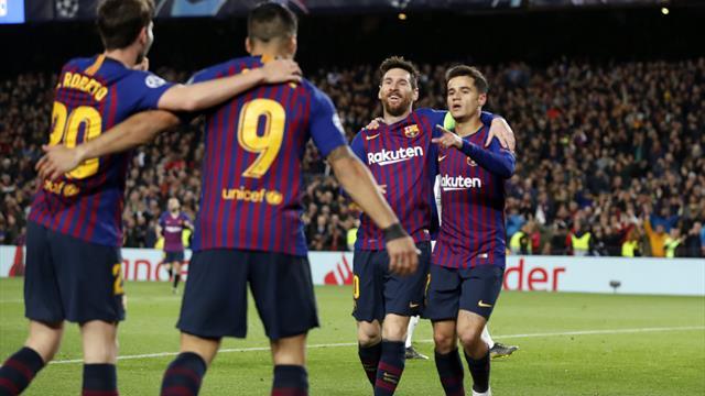 Messi risponde a Cristiano Ronaldo e Barcellona spaziale: 5-1 al Lione