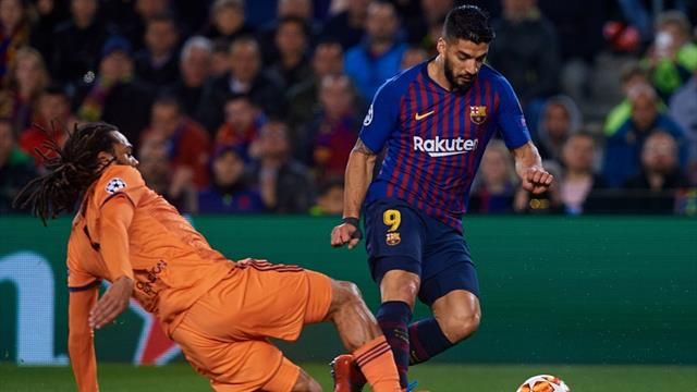Non c'è il rigore per il Barcellona: Suarez pesta il piede di Denayer