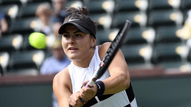 Bianca Andreescu terrasse Garbine Muguruza et file en demi-finales — Indian Wells