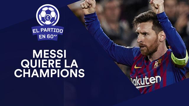 El Barça-Lyon en 60'': La penúltima exhibición de Messi para soñar con la sexta (5-1, global 5-1)