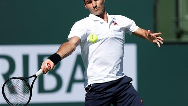 Federer se clasifica para cuartos de final en Indian Wells