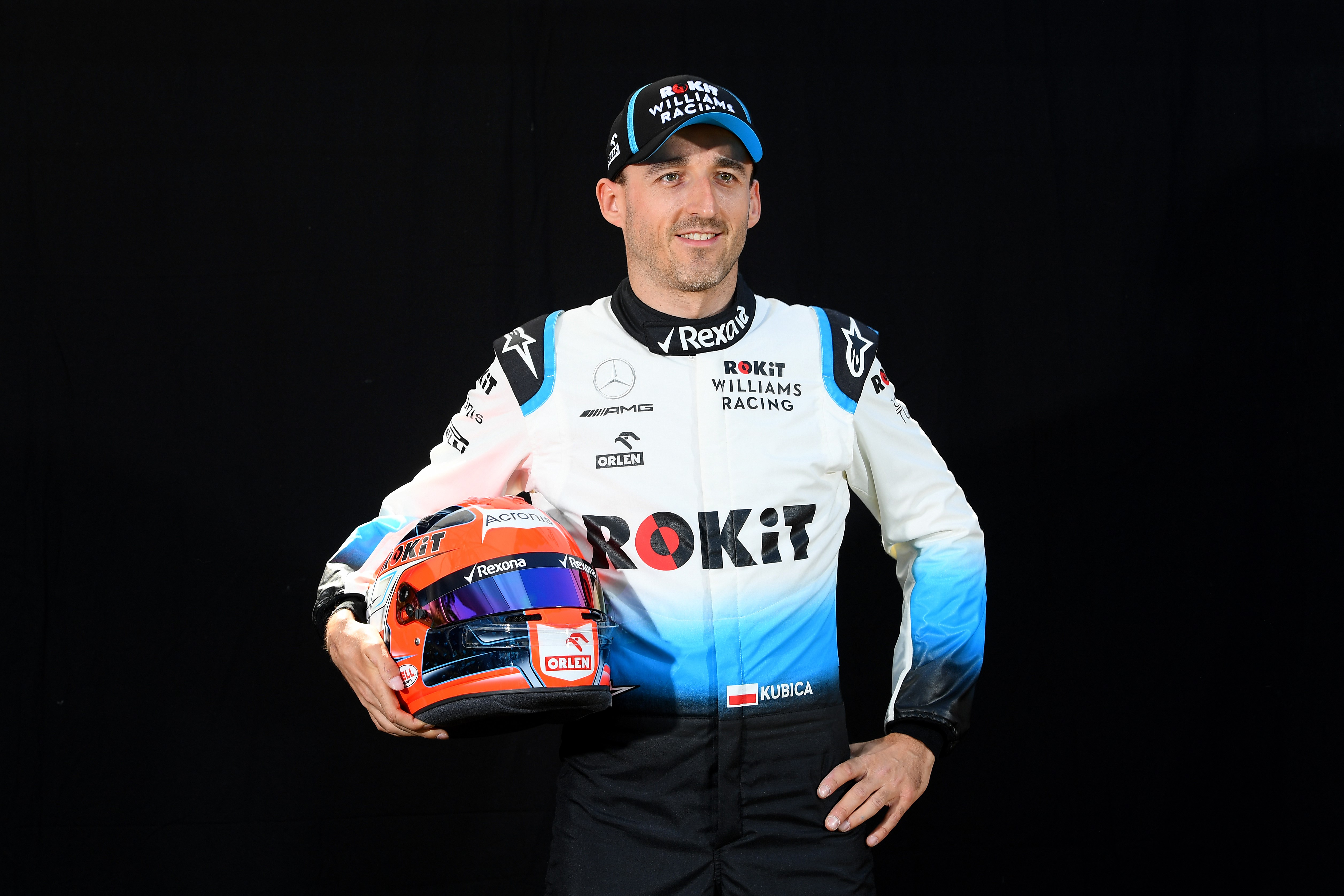 Robert Kubica of Poland and Williams poses for a photo during previews ahead of the F1 Grand Prix of Australia at Melbourne Grand Prix Circuit on March 14, 2019