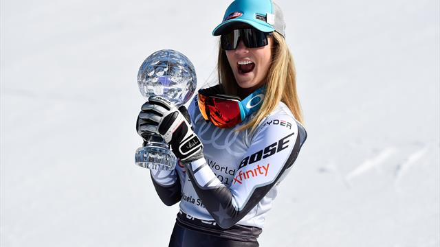 Shiffrin soars to Super-G crystal globe, set to win four