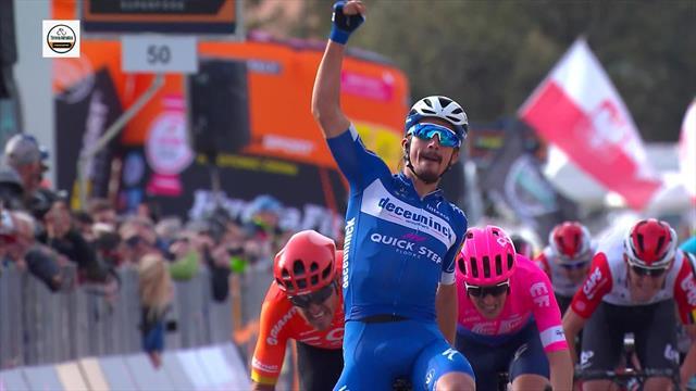 Das Finale der 2. Etappe bei Tirreno-Adriatico: Alaphilippe nicht zu schlagen