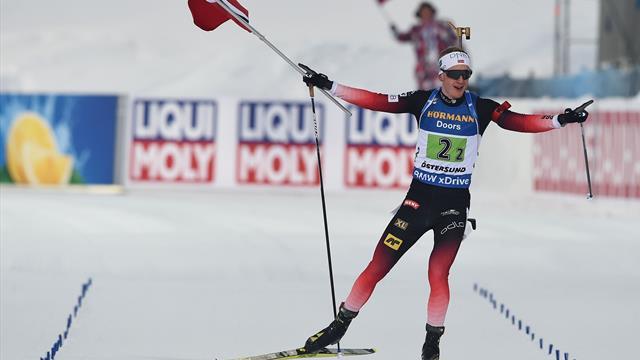 Zieleinlauf mit Flagge: Bö macht Gold für Norwegen perfekt