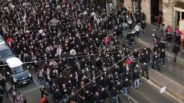Milano invasa da oltre 10 mila tifosi tedeschi per Inter-Eintracht Francoforte