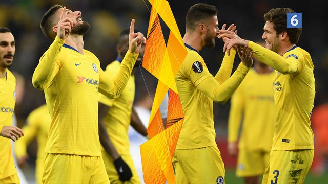 Highlights: Giroud smadrede Dynamo Kievs Europa League-drømme i 5-0-nedslagtning