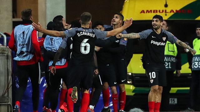 ⚽👁 Un gol de Kjaer en propia puerta elimina al Sevilla de la Europa League (4-3, global 6-5)