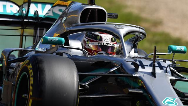 Hamilton zum Auftakt hauchdünn vor Vettel