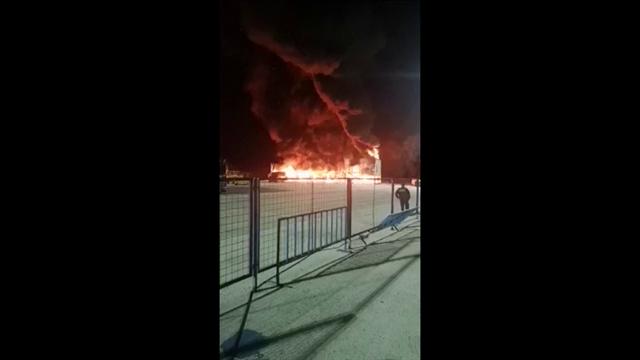Massive fire breaks out in MotoE paddock