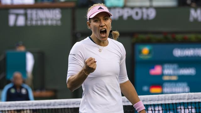 Kerber, Bencic power into Indian Wells semis
